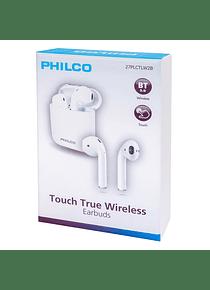 Audifono  PHILCO TRUE WIRELESS TWD2B TOUCH BLANCO