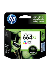 HP 664XL TRICOLOR   ALTO RENDIMIENTO   Tinta Original