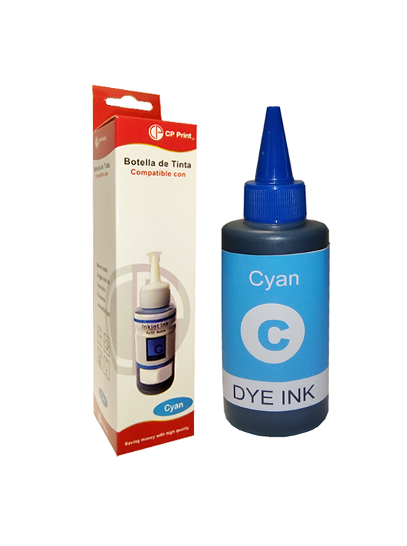 HP Serie GT  Cyan Tinta Botella Alternativa