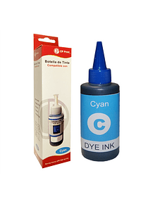 EPSON T504 DYE CYAN Botella Alternativa