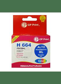 H 664 XL ALTO RENDIMIENTO Color Tinta Alternativa Remanufacturada GOLD