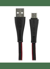 CABLE USB A USB C CARGA RÁPIDA PLANO CON MALLA