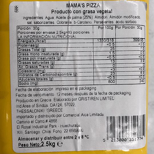 Barra 2,5kgs Queso Vegetal Mama's Pizza