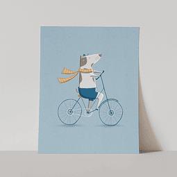 Lámina Perrito en Bici, Línea Tres Amigos