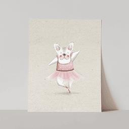 Lámina Mona Bailarina, Línea Pastel
