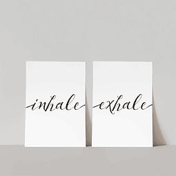 Pack Lámina Inhale y Exhale