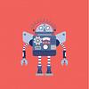 Lámina Robot Rojo