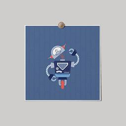 Lámina Robot Azul