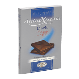 Chocolate Antiuxixona Negro 52% Cacao