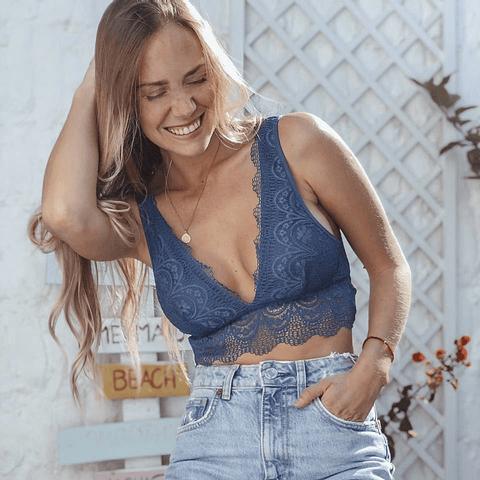 Bralette Lucía Azul Verdoso