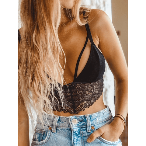 Bralette Velvet Negro