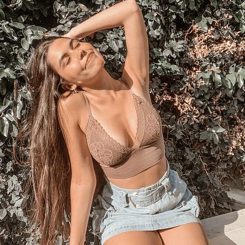 Bralette Agustina Mocha