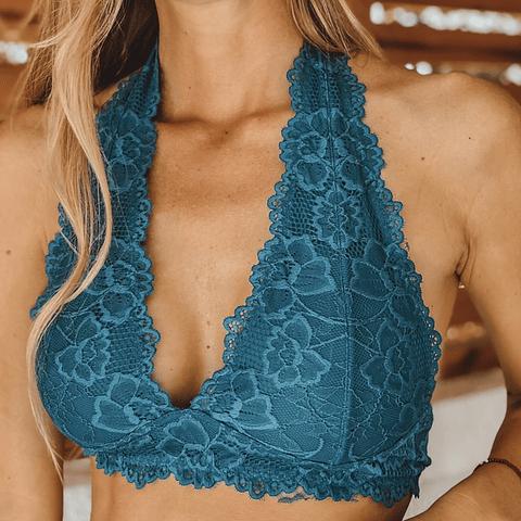 Bralette Dominga Azul Verdoso