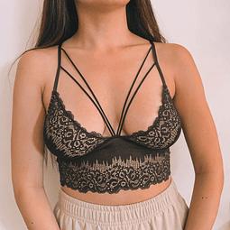 Bralette Francisca Negro