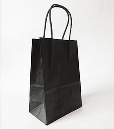 Bolsas de Papel Negro - 14 x 20 x 8 CM 1X50 unidades