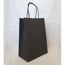 Bolsas de Papel Negro - 22 x 30 x 10 CM 1X50 unidades