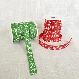 2 cintas falla diseño Navidad - Copos de nieve