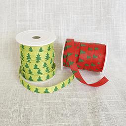 2 cintas falla diseño Navidad - Pinos