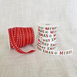 2 cintas falla diseño Navidad - Merry XMAS