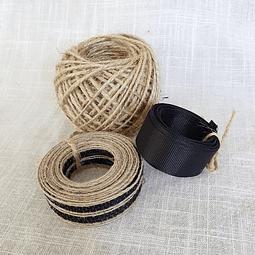 Pack yute y cintas - Negro
