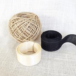 Pack yute y cintas - Crudo