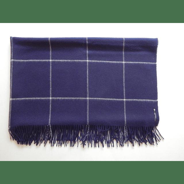 Chal 100%  lana de baby alpaca , color Azul