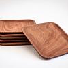 Set de 6 platos cuadrados de madera de Raulí