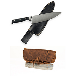 Cuchillo Acero Inoxidable + Piedra Afiladora