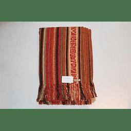 Manta de algodón Huitrú, aguayo Beige  1,30 x 1,40 mts