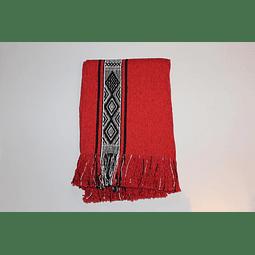 Manta de algodón Huitrú, Gaucha Rojo