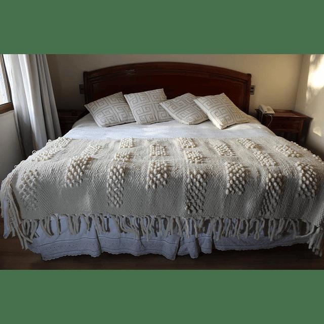 Piecera 100% lana de oveja extra gruesa  para cama king
