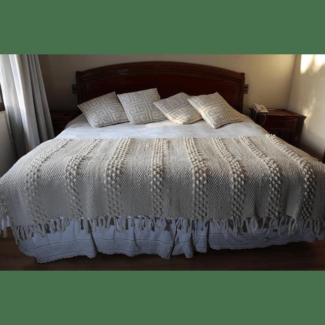 Piecera 100% lana de oveja extragruesa para cama King