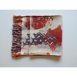 Camino de mesa Indigena Carmin