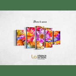 Flores de Colores de 5 piezas