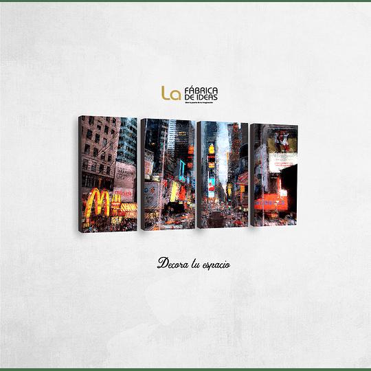 Cuadro Nueva York Abstracto  1 metro 10 cm de ancho x 50 de alto