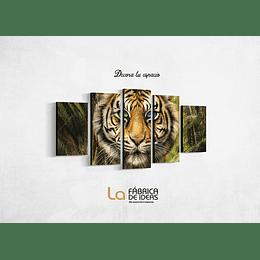 Cuadro de  animales Tigre Ojos Claros  Tamaño 110 de ancho x 59 de alto