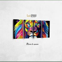 Cuadro animales Leon de Colores Tamaño 1 metro 5 de ancho x 50 de alto