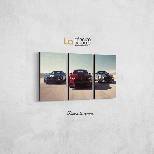 Cuadro Autos Ford Mustang Tamaño 80 de ancho x 50 de alto
