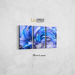 Cuadro Abtracto Textura azul Tamaño 80 de ancho x 50 de alto