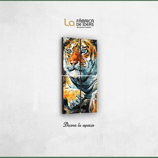 Cuadro Animales Tigre Tamaño 1 metro de alto x 50 de ancho