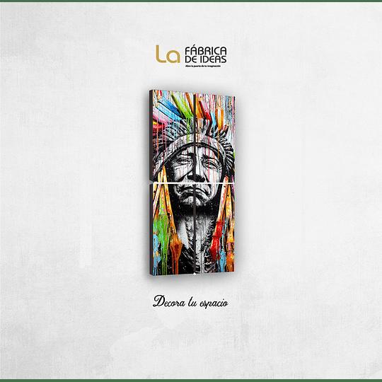 Cuadro Indio Americano Tamaño 1 metro de alto x 50 de ancho