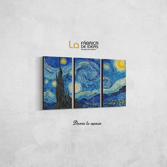 Cuadro  Noche estrellada de Van Gohg tamaño 80 de ancho x 50 de alto