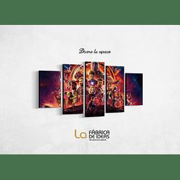 Cuadro Avengers ( Vengadores ) Tamaño 110 x 59