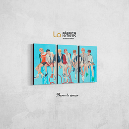 Cuadro Musica Kpop BTS tamaño 80 de ancho x 50 de alto