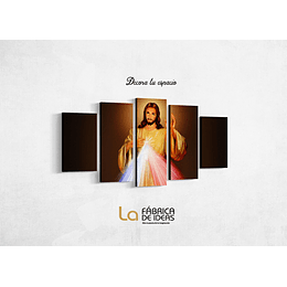 Cuadro Jesus Sagrado Corazon Tamaño 110 de ancho x 59 de alto