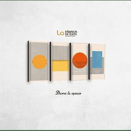 Cuadros abstractos set de 4 tamaño 26 x 50