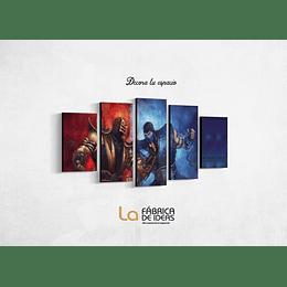 Cuadro Video Juego Mortal Kombat tamaño 110 de ancho x 59 de alto