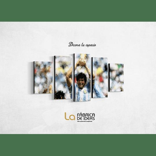 Cuadro Futbol Diego Maradona tamaño 110 de ancho x 59 de alto