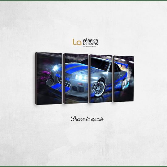 Cuadro Autos Nissan Skyline  GTR Tamañpo 1 metro 5 cm de ancho x 50 de alto