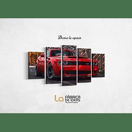 Cuadro Dodge Charger   Tamaño 1 metro 10 cm de ancho x 59 de alto